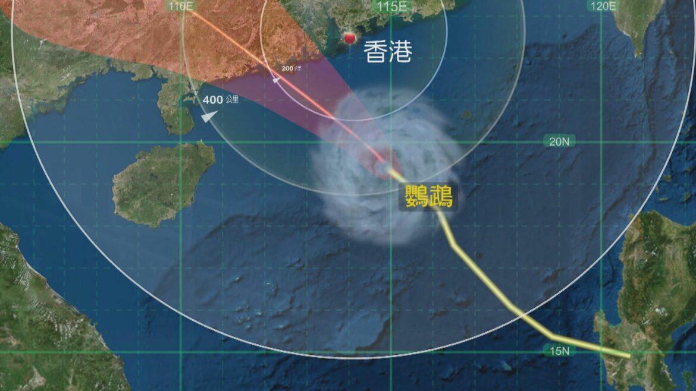三號強風信號生效 鸚鵡明早在香港西南200公里掠過