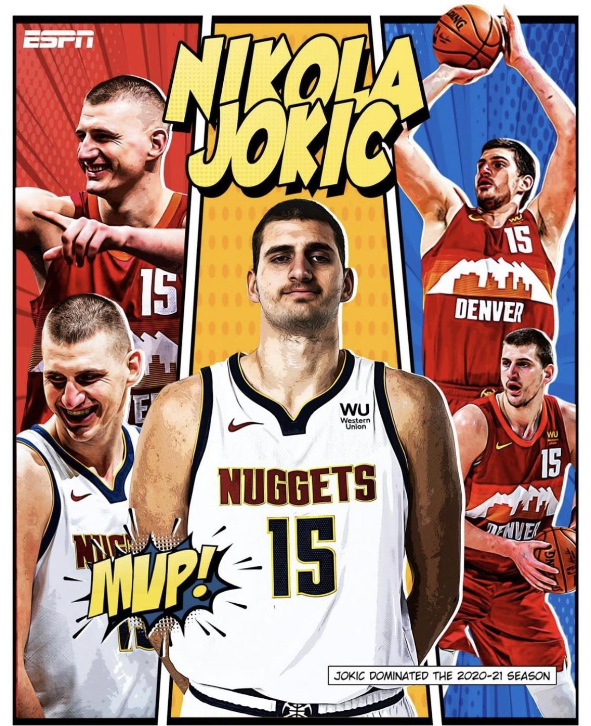 恭喜 Nikola Jokic拿下2021賽季年度MVP!成為NBA歷史上選秀順位最低的MVP,實至名歸的榮耀。