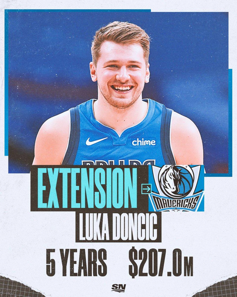 Luka Doncic完成5年2.07億的續約!近代NBA與國際戰場的英雄出少年代表人物。